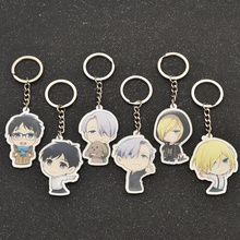 Anime Yuri!!! on Ice Victor Nikiforov Acrylic Keychain Key Ring Keyring Cosplay Phone Bag Pendant Hang Chain