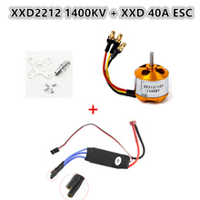 Brushless Motor XXD2212-1400KV/2200KV/2450KV+ 40A ESC+Motor Mount For RC Helicopter /Airplane