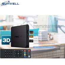 Sunvell T95X Amlogic S905X Smart TV Box Quad Core 4Kx2K H.265 Set Top Box 2G 8G  KD 16.1 Android 6.0 Mini PC