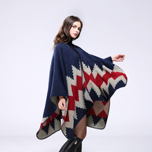 Ethnic Style Office Nap Must Women's Check Cape Poncho Soft Keep Warm Leopard Blanket Cloak Cape Outwear Coat Shawl 1123