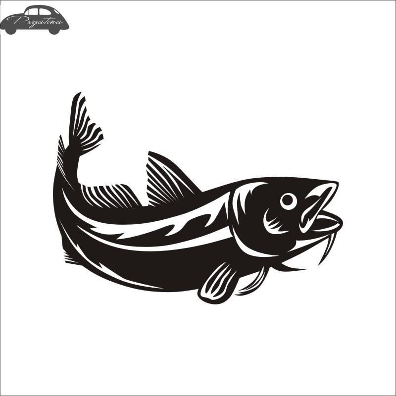Pegatina Cod Fish Gadus Car Decal Gadus Morhua Posters Boat Decals Decor Mural Wall Sticker Angling Hooks Shop Vinyl