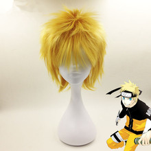 Naruto Uzumaki Cosplay Short Anime Wigs Synthetic Hair Party Fashion Wig