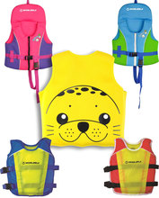 Kids' UPF 50+ Swim Vest Child Personal Flotation Device Neoprene Life Jacket Youth Inflatable Swimsuit Child's Swimming Vest(China)