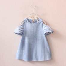 UK Infant Kids Girls Clothing Dresses Toddler Baby Sleeveless Princess Short Sleeve Striped Tutu Dress Clothes Girl