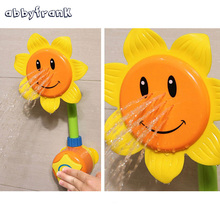 Abbyfrank Baby Bath Toy Children Pool Swimming Toys Sunflower Shower Shower 0-12 Months Bath Learning Toy Gifts For Kids