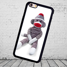 Sock Monkey Doll Stuffed Doll Mobile Phone Cases For iPhone 6 6S Plus 7 7 Plus 5 5S 5C SE 4S Soft Rubber Cover Shell