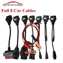 Adapter Cables For VD TCS CDP Pro OBD2 OBDII Cars Diagnostic Interface Tool Full set 8 Car Cables For VD TCS CDP Cable
