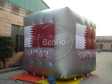 AO042  4 sides printing Cube Balloon for Advertising Inflatable Helium Balloon, PVC Balloon in the Sky Helium Inflatable Balloon