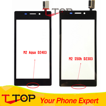 Black White Touch Panel For Sony Xperia M2 Aqua D2403 /M2 S50h D2303 Touch Screen Digitizer Front Glass Replacement 1PC/Lot