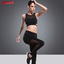 UMLIFE Woman Yoga Set Sport Set Sport Suit Women Bra and Leggings Female Sport Wear Running Jogging Suits GYM Fitness Clothing
