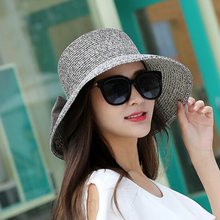 summer girl hat solid Bow decoration Beach outdoor cap Women Sun Snapback 2017 Novelty Fashion spring summer butterfly buckets