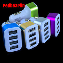 redbearlin 4 Port USB phone Charger For iPhone iPad iPod Mini phone Charger Adapter / Cigar Socket for samsung(China)