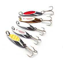 NEW 5pcs/lot Fishing Metal Spoon Lure with Tackle Box Case Treble Hook Crankbait Spinner Bass Bait accessory Outdoor Sports