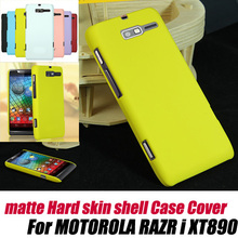 frosted Matte Hard skin Case Cover For MOTOROLA RAZR i XT890+screen protecor,free shipping