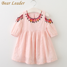 Bear Leader Girls Dress 2017 Summer Style Princess Dress Children Clothing Half Sleeves Casual pattern Design for Girls Clothes(China)