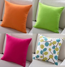 Solid Candy Colour Cushion Covers Orange Green Hot Pink Modern Minimalism Cushion Cover Home Decorative Sofa Pillow Case