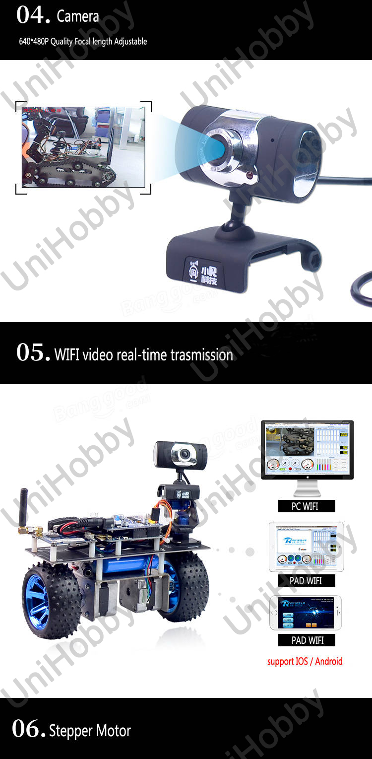 Wifi Robot STM32 Self-Balancing Smart Roly Robot Car Wifi Video Module APP Control Finished Version (6)