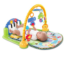 Genuine Fisher Price Baby Rattles Toys Multifunctional Infant Play Baby Piano Educational Toys Super Soft Bed Crib Hangings(China)