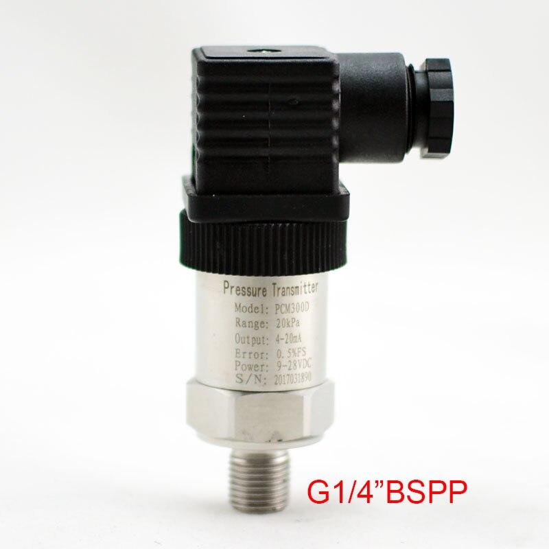 0-0.2-60Mpa Silicon Pressure Transmitter Pressure Transducer G1/4 4-20mA output<br>