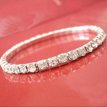 HOT! 12393 Women's Silver Plated Crystal Rhinestone Bangle Party Jewelry Gift Cuff Bracelet