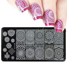 1pcs HOT Fashion Image Print Nail Stamping Plates Stainless Steel Nail Art Stamp Template Manicure Nail Tools LAXYJ13
