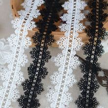 H3501 lace accessories Black and white and dichromatic bilateral necklace 3.5 cm wide clothing water soluble lace