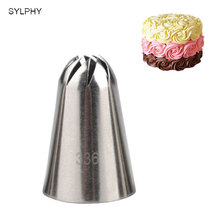 #336 Large Size Icing Piping Nozzles Steel Cake Cream Decoration Head Bakery Pastry Tips Baking Tools(China)