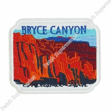 "3.5"" Hiking Travel Souvenir Patch White Utah ""Bryce Canyon National Park"" Clothes Stickers MOTIF APPLIQUE Clothing Iron On Badge(China)"