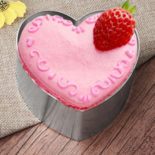 6 to 8 Inches Retractable Stainless Steel Circle Heart Round Mousse Ring Baking Tool Set Cake Mold Size Adjustable Bakeware