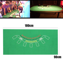 Top Roulette Black Jack Blackjack Table Cloth Poker Felt Layout Black Jack Layouts Blackjack 21 Game Mat Layouts Board Game Mat(China)