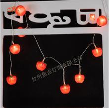 Fruit Red 3D Apple 10 LED String Lights Battery Operated Bulb Lamp Strip DIY Wedding Garden Farm House Tree Christmas Xmas Decor