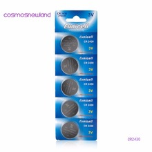 1lot=1pack=5pcs CR2450 button cell coin battery 2450 ECR2450 KCR2450 5029LC LM2450 3V lithium Battery ,Cosmosnewland battery