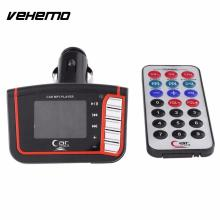 "Vehemo 1.44"" LCD Wireless FM Transmitter Car Auto MP3 Card USB Drive Remote(China)"