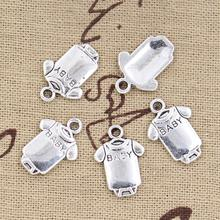 99Cents 12pcs Charms baby onesie coverall cloth 17*12mm Antique Making pendant fit,Vintage Tibetan Silver,DIY bracelet necklace