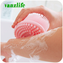 Vanzlife ultra soft gel bath and shower massage brush head massage shampoo brush gentle touch cleaning brush(China)