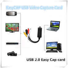 EasyCAP USB Video Capture Card Adapter TV DVD VHS Captura de v deo Card Audio AV for Computer/CCTV Camera USB 2.0 EasyCAP DC60