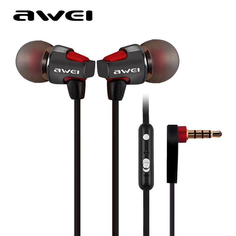 Awei Noise Reduction In-Ear Earphone HIFI headset Music Headset Phone Headset Clear Bass with Mic 3.5mm Headset Noodle earphone<br><br>Aliexpress