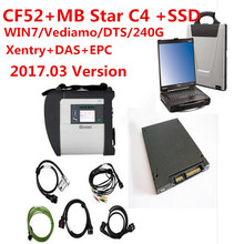 V2017.05 New Mercedes Compact Diagnose MB Star C4 with CF52 Laptop Newest Software SSD DTS Monaco+vediamo+xentry+DAS DHL Free