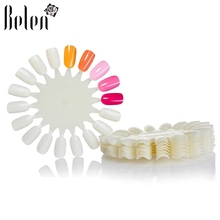 Belen 10PCS UV Gel Nail Polish Color False Nails Display Nail Tips False Tips Nail Art Design Practice White Wheel Tips Display(China)