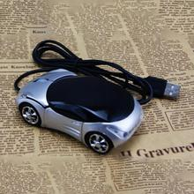 Brand New Innovative Mini Car Shape USB Optical Wired Mouse with 2 Headlights Mouse for Desktop Computer Laptop(China)