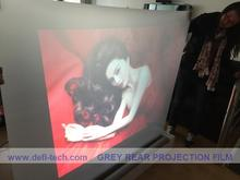 Holography optical clear Adhesive Rear Projection Screen Foil(film) for Glass, free fedex freight cost (1.524x3m)
