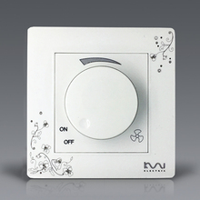 Free Shipping, Kempinski Brand Luxury Wall Switch, Ivory White, Brief Art Fashion Fan Speed Controller, AC 110~250V