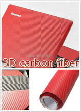 1520mm wide Red 3D Air Free Carbon Fiber Vinyl Sheet Twill-Weave Wrap Film Sticker Sample Auto Part Body Kit(China)
