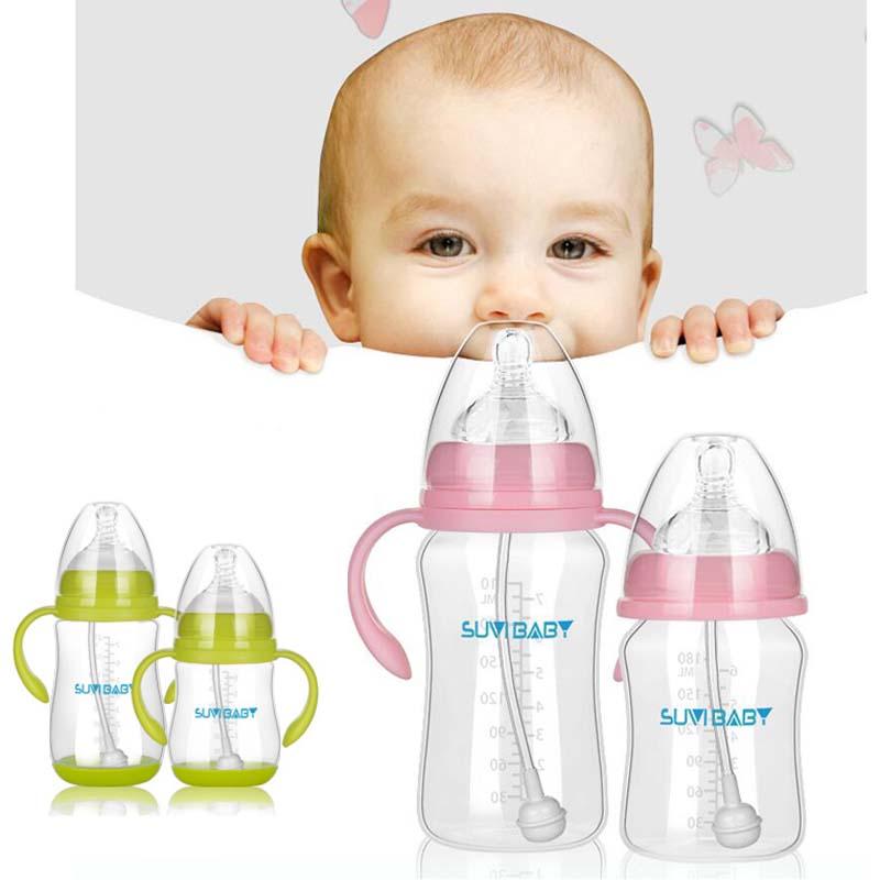 Silicone Pacifier Water Feeding Baby Newborn Nursing Nipple Milk Bottle 60ml  HS