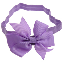 1 Piece Baby Girls Hair Bow Tie Ribbon Decor Hairband Headband(China)