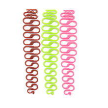 2pcs/ lot Fashion Women Twist Styling Hair Braider Creative Magic Hair Braid Tool Holder Clip New Wave Hair Disk Braider #M02168(China)