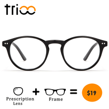TRIOO Vintage Optical Eyewear Prescription Eyeglasses Frame With Clear Lenses Women Glasses Oculos Round Spectacle(China)