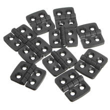 MTGATHER 10 Pcs Reinforced Plastic Door Cabinet Butt Bearing Hinge Resistant Corrosion Good Toughness 40mmx30mm