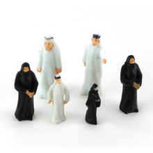 Arabs People Miniature Figurines Sand Table Construction Model Decor DIY Accessories Mini Craft