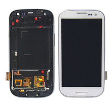 szHAIyu Test Good Working Well LCD Display + Touch Screen For Samsung Galaxy S3 i9300 LCD Digitizer with frame(China)